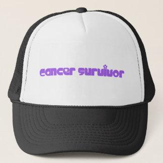 Purple Flowers Survivor Hat