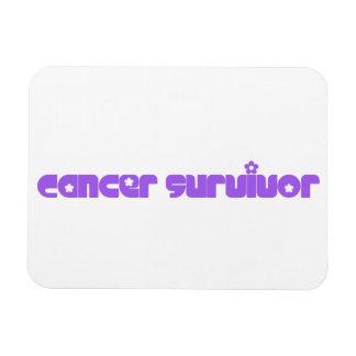 Purple Flowers Survivor Magnet