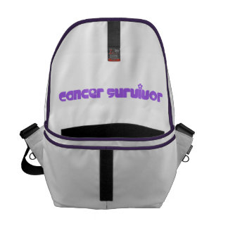 Purple Flowers Survivor Messenger Bag