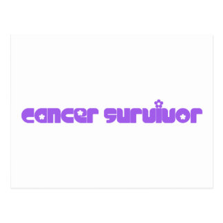 Purple Flowers Survivor Postcard