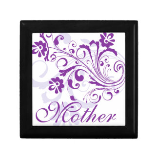 Purple Flowers Swirls Mother's Day Gift Boxes