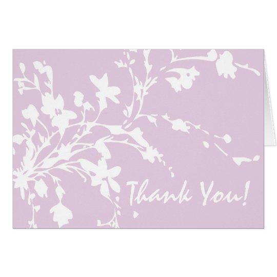 Purple Flowers Thank You Card