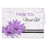 Purple Flowers Thank You Flower Girl Card