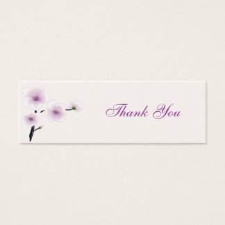 Purple Flowers Thank You Tag