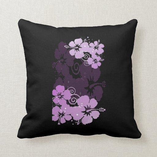 Purple Flowers Throw Pillow Zazzle