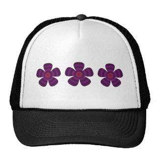purple flowers trucker hat