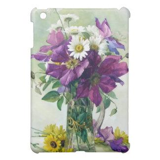 Purple Flowers Watercolor Fine Art  iPad Mini Case