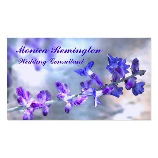 Purple Flowers Wedding Consultant Double-Sided Standard Business Cards (Pack Of 100)
