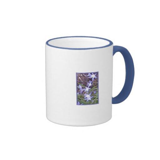 Purple flowers welcome Spring Coffee Mugs