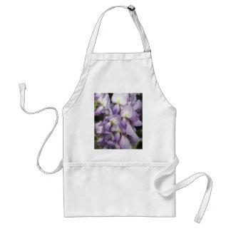 Purple Flowers Wisteria Wildflowers Floral Print Adult Apron