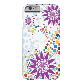 Purple Flowers with Polka Dots Barely There iPhone 6 Case