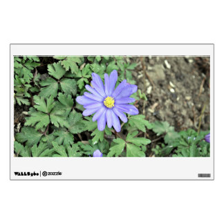 Purple flowers with yellow eyes wall sticker