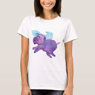 Purple Flying Pig T-Shirt