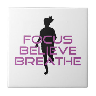 Purple Focus Believe Breathe Tile