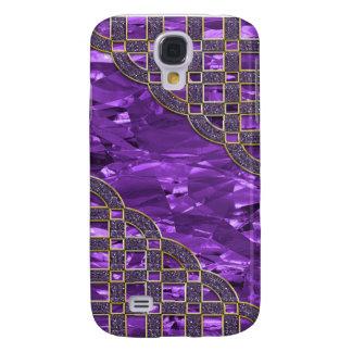 Purple Foil, Golden Glitter Lice Galaxy S4 Cover
