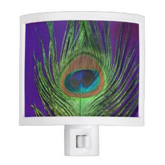 Purple Foil Single Peacock Night Light