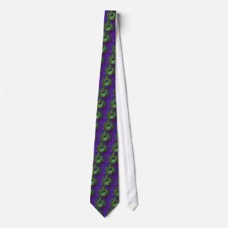 Purple Foil Single Peacock Tie