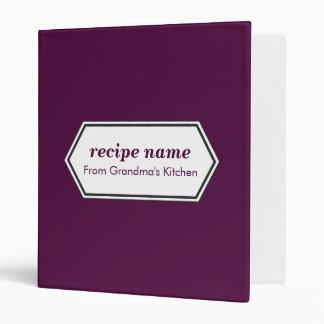 Purple Food Label Binder
