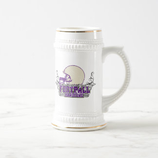 Purple Football Hardcore T-shirts and Gifts Beer Stein