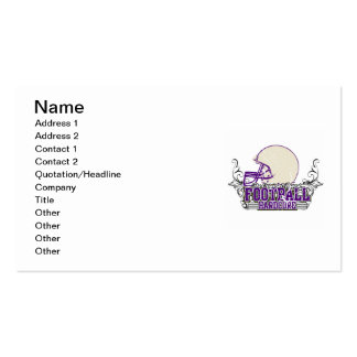 Purple Football Hardcore T-shirts and Gifts Double-Sided Standard Business Cards (Pack Of 100)