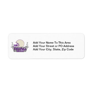 Purple Football Hardcore T-shirts and Gifts Return Address Labels