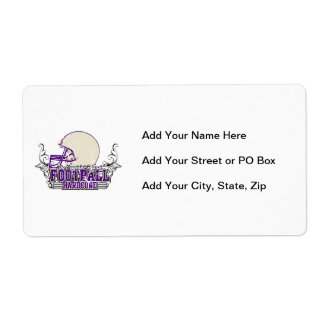 Purple Football Hardcore T-shirts and Gifts Shipping Labels