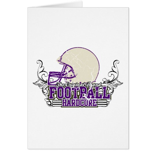 Purple Football Hardcore Tshirts and Gifts Card