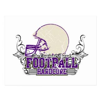 Purple Football Hardcore Tshirts and Gifts Postcard
