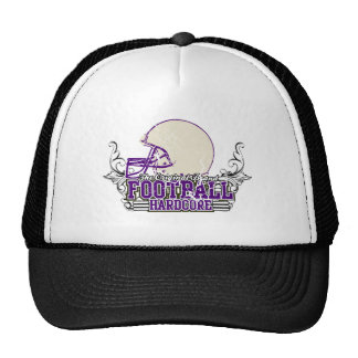 Purple Football Hardcore Tshirts and Gifts Trucker Hat