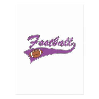 Purple football logo postcard