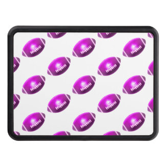 Purple Football Pattern Trailer Hitch Cover