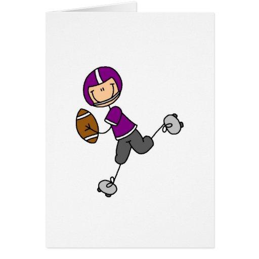 Purple Football Player Card
