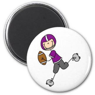 Purple Football Player Magnet
