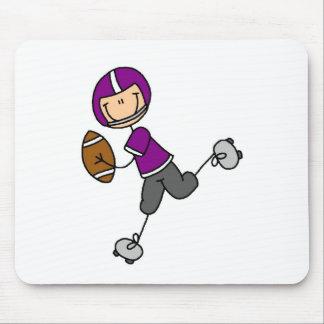 Purple Football Player Mousepad