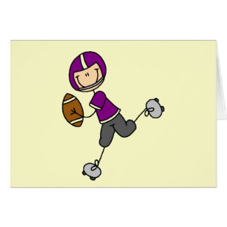 Purple Football Player Tshirts and Gifts Card