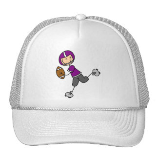 Purple Football Player Tshirts and Gifts Trucker Hat