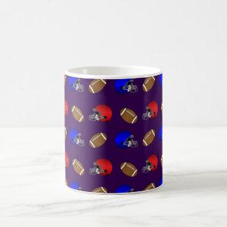 purple footballs helmets pattern mugs