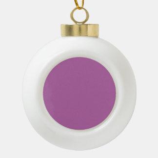 Purple For Always Ceramic Ball Christmas Ornament