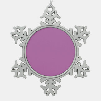Purple For Always Snowflake Pewter Christmas Ornament