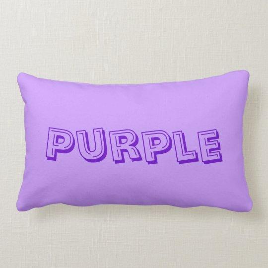 Purple for Chronic Pain Awareness Lumbar Pillow