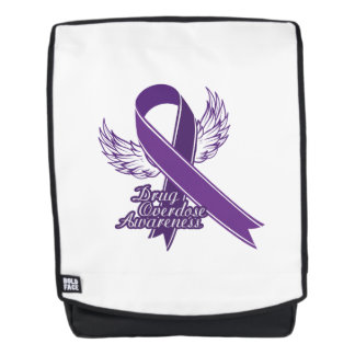 Purple For Drug Overdose Awareness Gift Backpack