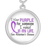 Purple For Someone I Need Alzheimer's Disease Custom Necklace