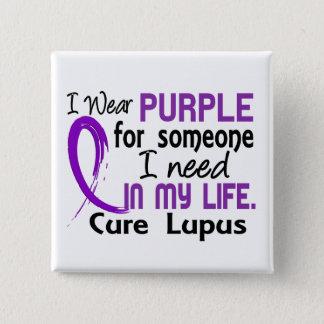 Purple For Someone I Need Lupus Pinback Button