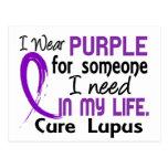 Purple For Someone I Need Lupus Postcard