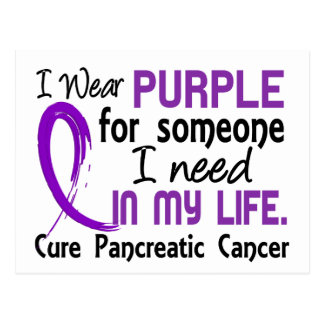 Purple For Someone I Need Pancreatic Cancer Postcard