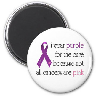 Purple for the Cure 2 Inch Round Magnet