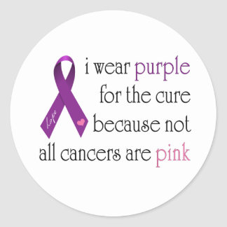 Purple for the Cure Classic Round Sticker