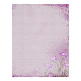 Purple Foral Letterhead
