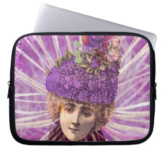 Purple Forest Fairy Princess Fantasy Collage Computer Sleeves