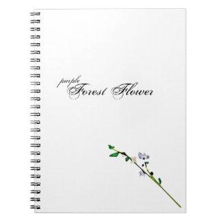 purple Forest Flower notebook & design